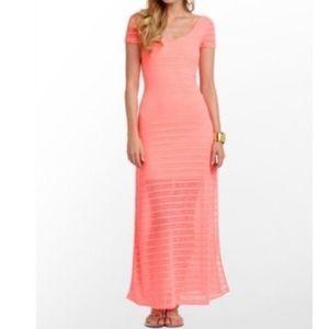 Lilly Pulitzer melon Ramsey maxi dress L
